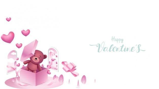 De achtergrond van de gelukkige valentijnskaart