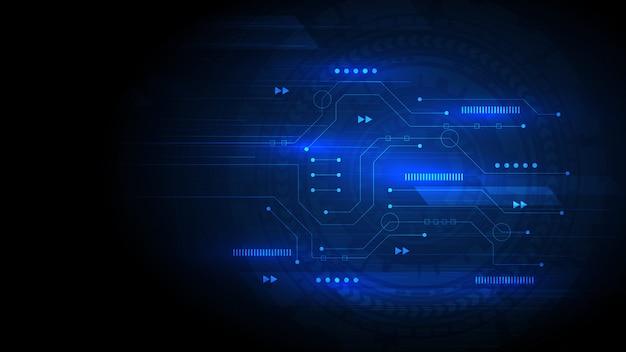 De achtergrond van de kringstechnologie met hi-tech digitaal gegevensverbindingssysteem en elektronische computer