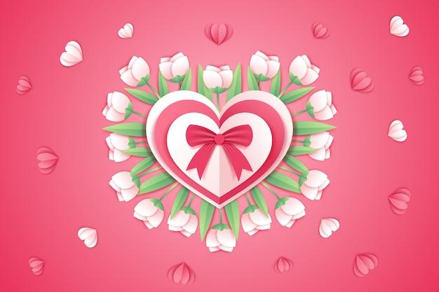 De achtergrond van de valentijnskaartendag in document stijl