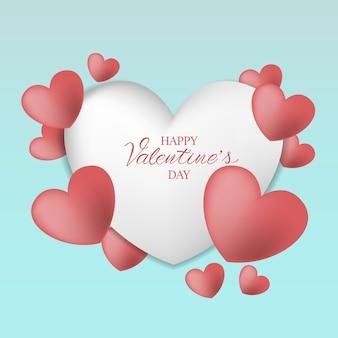 De achtergrond van de valentijnskaartendag met hart patterb