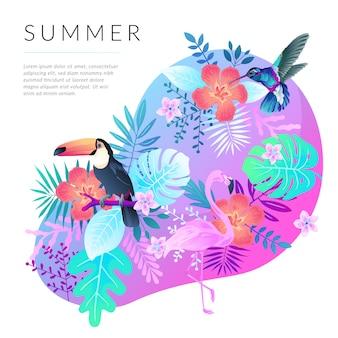 De achtergrond van de zomer