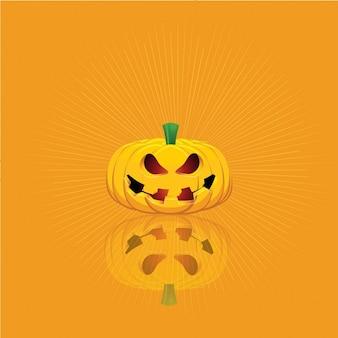De achtergrond van halloween met een griezelige pompoen