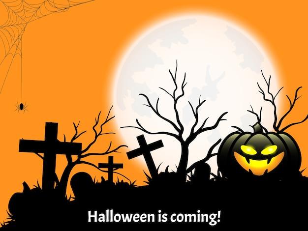 De achtergrond van halloween met halloween komt tekst