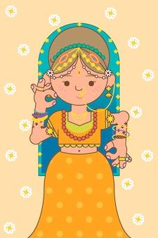 De achtergrond van het godin lakshmi diwali-festival