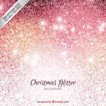 De achtergrond van kerstmis in glitter stijl