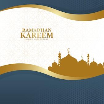 De achtergrond van ramadan kareem in een luxe stijl van