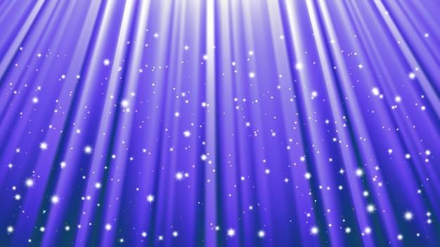 De achtergrond van zonlichtstralen met lichteffecten. blauwe achtergrond met licht van uitstraling. vector illustratie