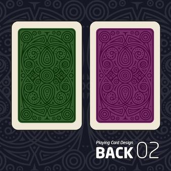 De achterkant van een speelkaart voor een ander spel met een patroon.