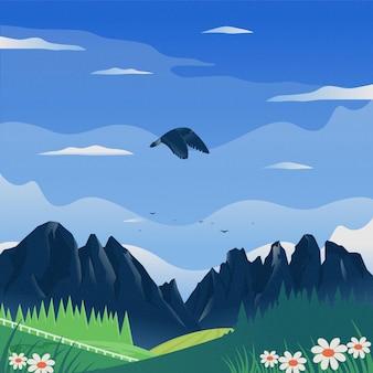 De adelaar vliegt