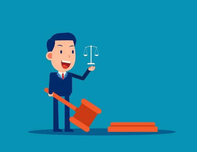 De advocaat houdt rechter hamer wetgeving concept