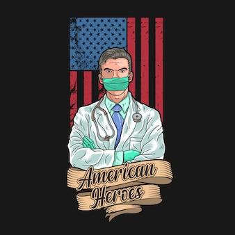 De amerikaanse dokter is een held