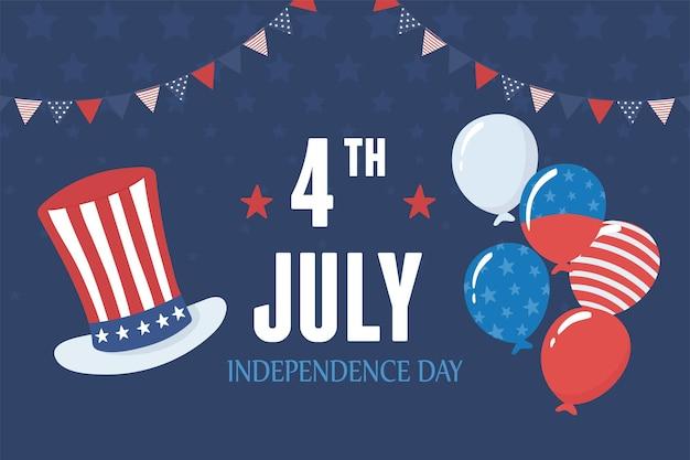 De amerikaanse onafhankelijkheidsdag