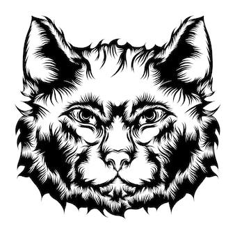 De animatie van de straatkat voor de ideeën voor tattoo-illustratie