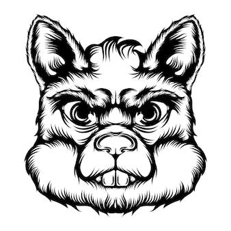 De animatie van de tatoeage van de grote rat met de goede animatie