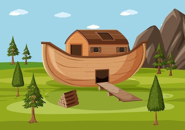 De ark van noach landde op de bergen van ararat