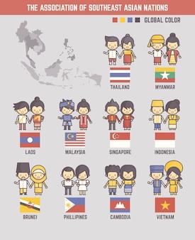 De associatie van zuidoost-aziatische landen