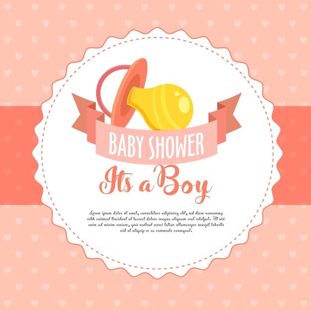 De baby shower nodigt groet / uitnodigingskaart uit