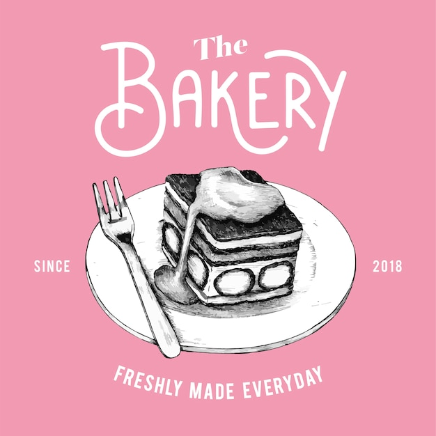 De bakkerij logo ontwerp vector