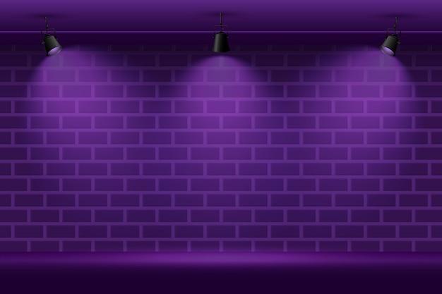 De bakstenen muur met vlek steekt achtergrond aan