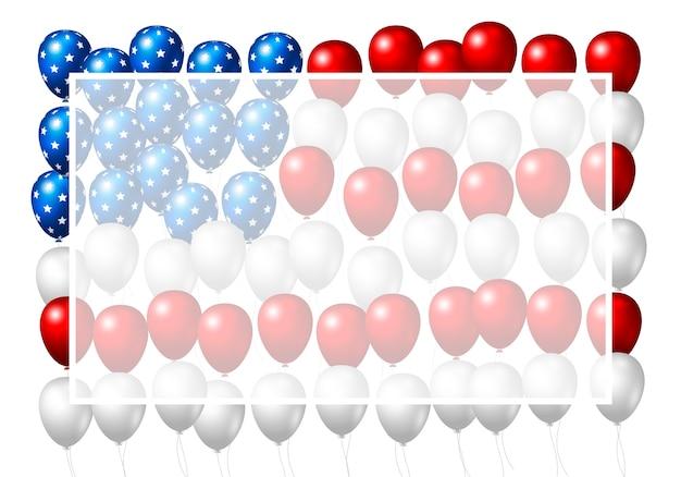De ballonontwerp van de vs van amerikaanse vlag