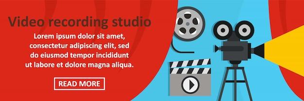 De banner horizontaal concept van de video-opnamestudio