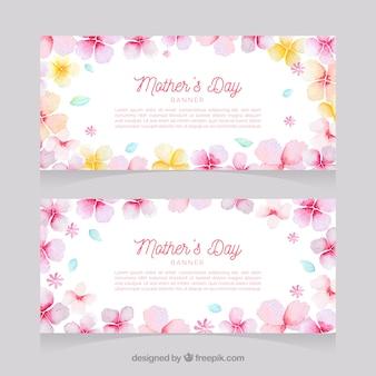 De banners van de de dagwaterverf van de gelukkige moeder