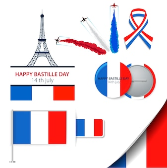 De bastille dag veertien juli of een andere franse feestdag