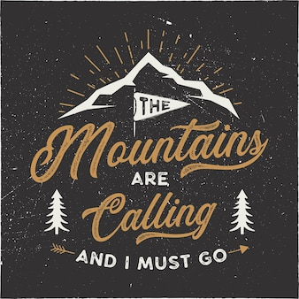 De bergen roepen illustratie op