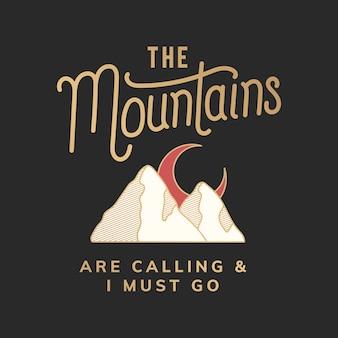 De bergen roepen illustratie