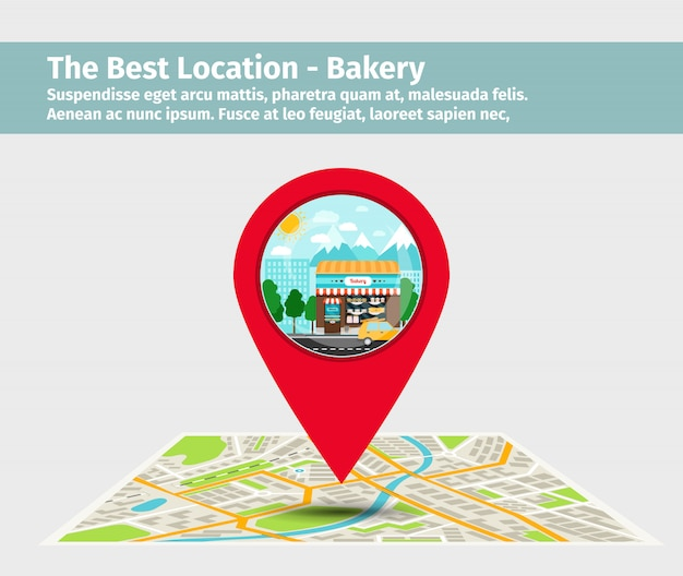 De beste locatie bakkerij