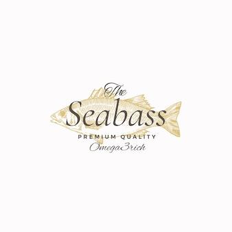 De beste zeebaars abstract teken, symbool of logo sjabloon.