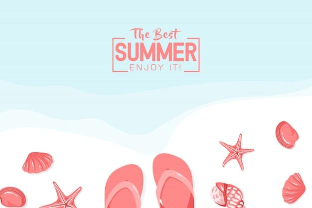 De beste zomer geniet ervan achtergrond
