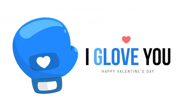 De blauwe handschoen