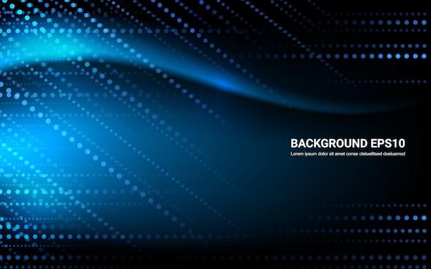 De blauwe zwarte abstracte achtergrond van de lijn vlotte kromme