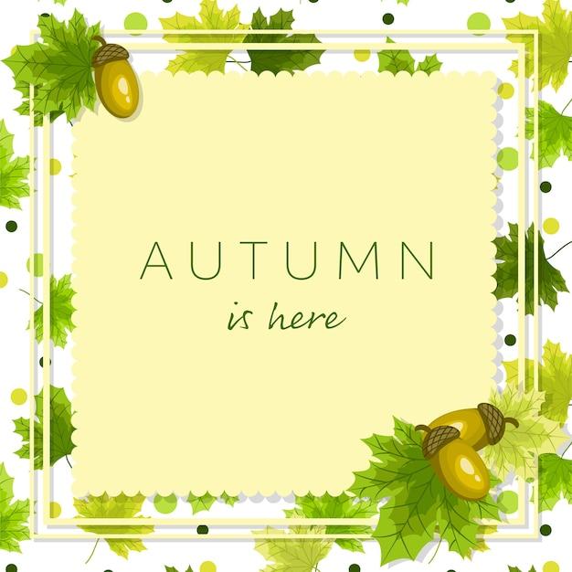 De bloemenachtergrond van de herfst met de herfst is hier tekst.