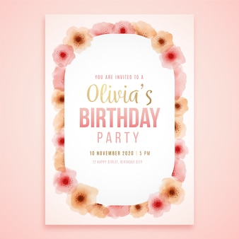 De bloemenkaart van de verjaardag van olivia