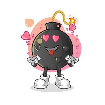 De bom wordt verliefd. tekenfilm