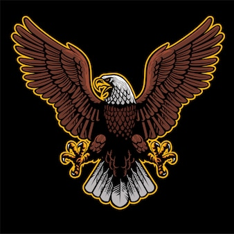 De boze adelaar spreidde de vleugels