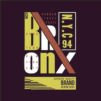 De bronx, new york city typografie grafische vector