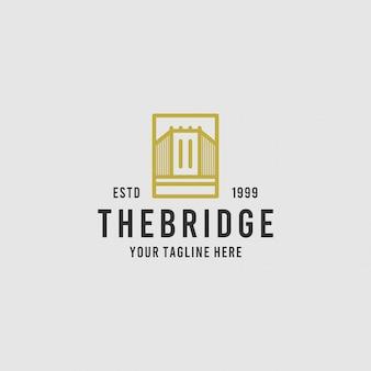 De brug minimalistische logo-ontwerpinspiratie
