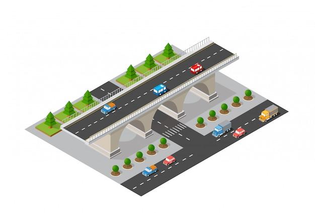 De brugbrug van stedelijke infrastructuur