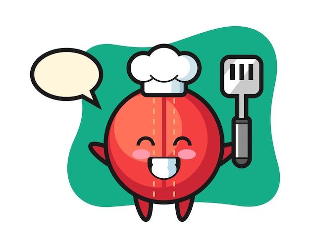 De cartoon van de de balchef-kok van de veenmol kookt