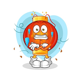 De chinese lantaarn koude illustratie. cartoon mascotte mascotte