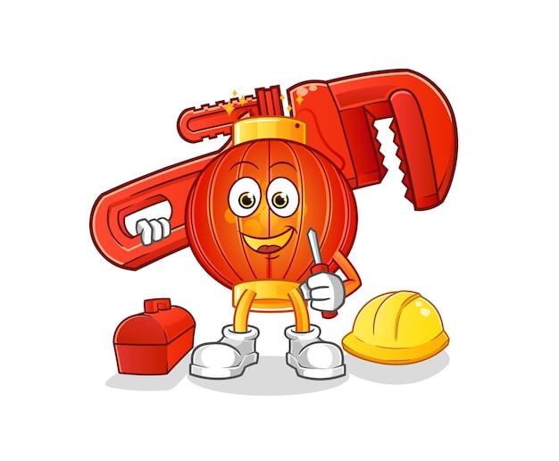 De chinese mascotte van het lantaarnloodgieter