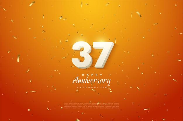 De cijfers schitteren voor de viering van het 37-jarig jubileum