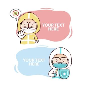 De cute two gezondheidswerkers