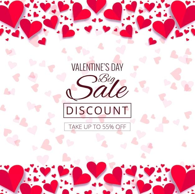 De dag decoratieve van de mooie harten valentijnskaart illustratie als achtergrond