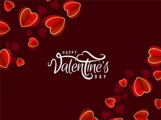 De dag mooie achtergrond van valentine met harten
