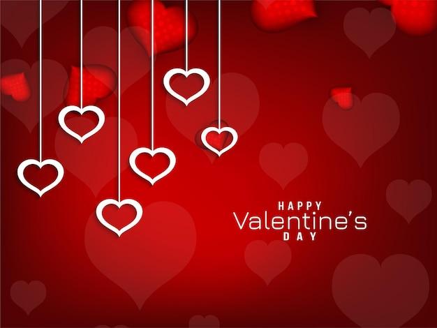 De dag rode achtergrond van abstracte gelukkige valentijnskaart