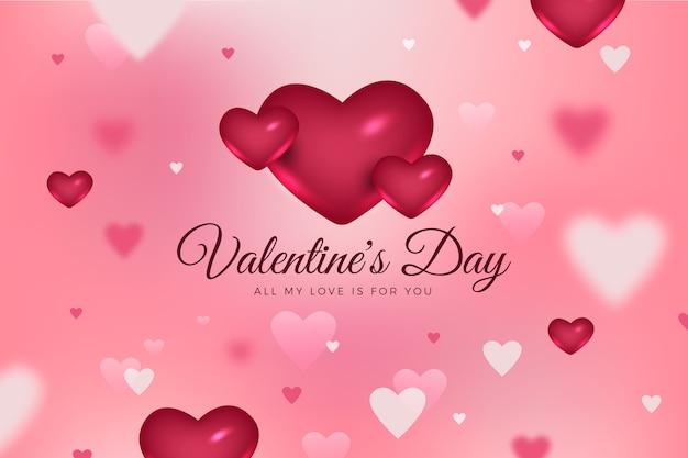 De dag vage achtergrond van de gelukkige valentijnskaart